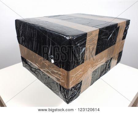 Black Packet Parcel
