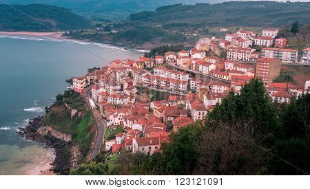 View of the city of Lastres Asturias Spain. Photographs updated in March 2016