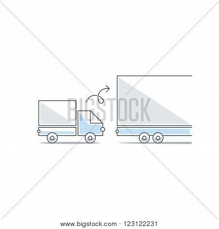 Upgrade or improvement concept, linear design illustration