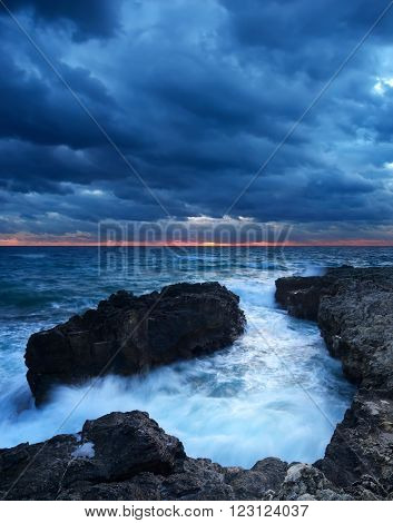 Seascape during sundown. Beautiful natural seascape in the summer time ** Note: Soft Focus at 100%, best at smaller sizes