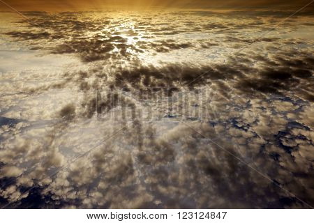 Cirrus Clouds At Sunset