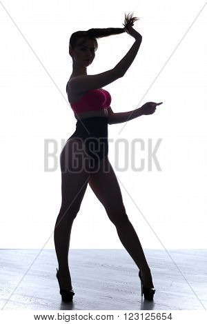 Silhouette Slender Girl