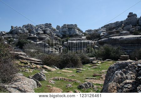 El Torcal National Park in Andalucia Spain ** Note: Visible grain at 100%, best at smaller sizes
