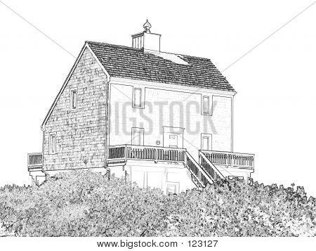 Sketched Ocean House