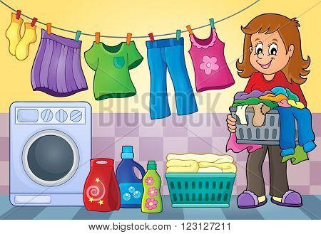 Laundry theme image 4 - eps10 vector illustration.