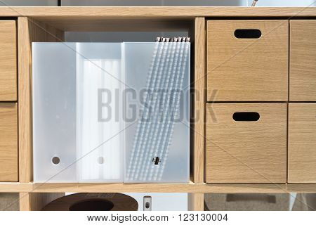 Office Study Desktop With Various Stationary Accessories