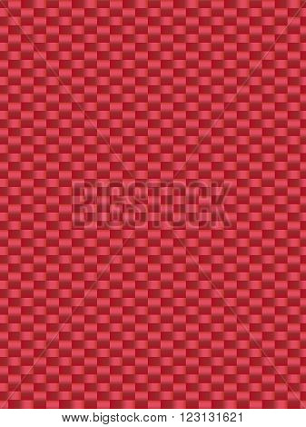 Red weave texture synthetic fiber geometric seamless background vector