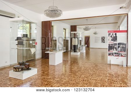 BELGRADE,SERBIA, JULY 6,2014: Interior detail from the museum section of House Of Flowers, the memorial mausoleum of Josip Broz Tito, former president of Yugoslavia.