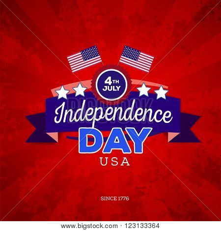 Independence day of America. Typography design. Vetor illustration