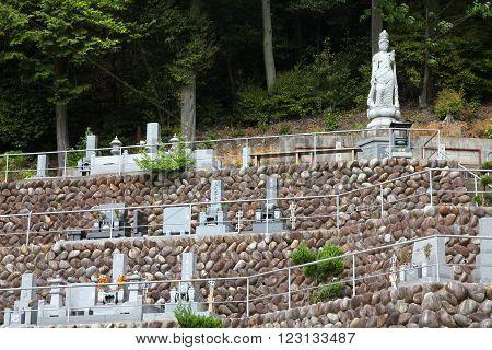 Cemetery In Japan