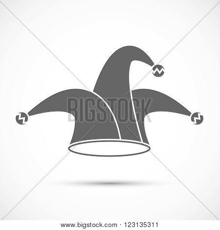 Jester hat icon. April fools day illustration