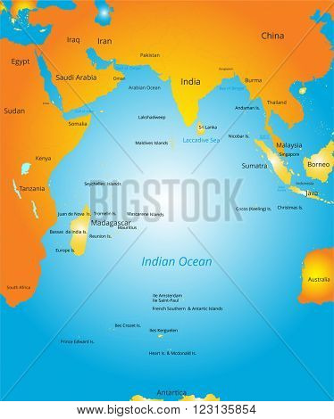 map of Indian ocean region