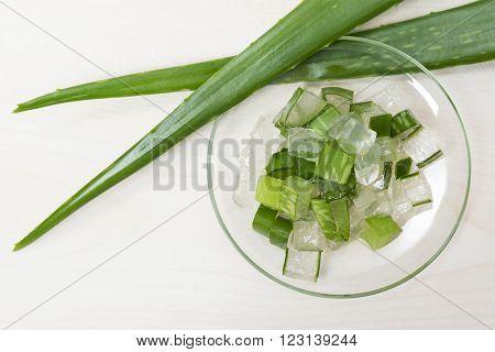 Natural aloe vera organic scin care cosmetics specks