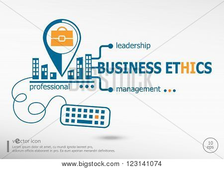 Business Ethics And Marketing Concept.