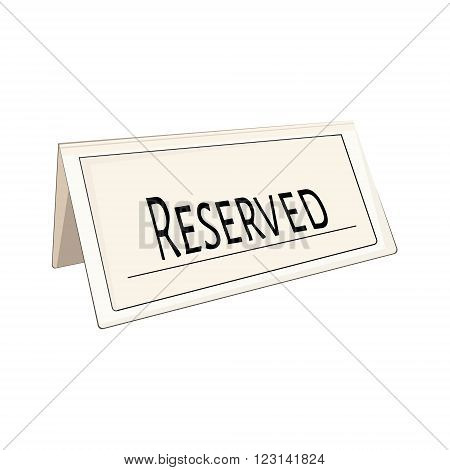 Vector illustration restaurant reserved sign icon. Reserved note. Reservation sign