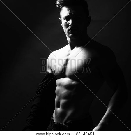 Sexy Man With Naked Torso
