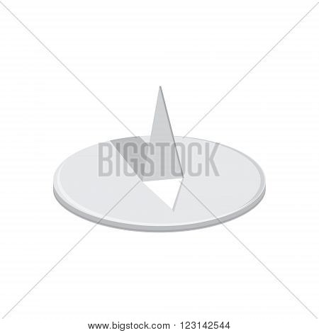 Vector illustration metal round drawing pin. Stationery tools