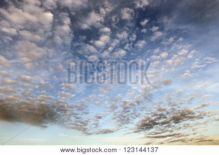 Cirrus Clouds At Sunset