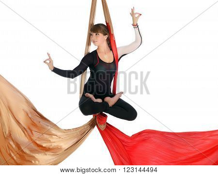 Gymnastics On Aerial Silk