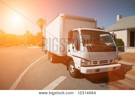 Moving Truck On Street