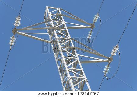 Electric tower power tower and transmission lines