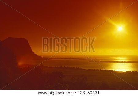 Indian Ocean Mauritius Tamarin Landscape
