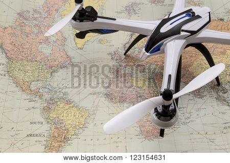 Drone / UAV surveylance over a the world .