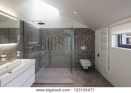 Interior of a house, bathroom modern design