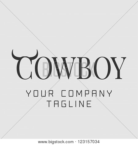 Cowboy vector template logo. Concept image design element