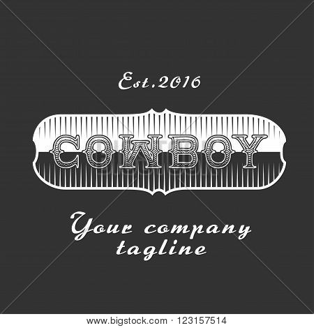 Cowboy vector template logo. Concept image, design element