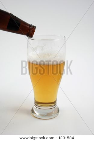 Cold Beer Being Poured