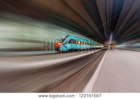 Train With Motion Blur.