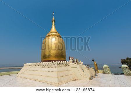 Bupaya Pagoda temple in Bagan Myanmar (Burma)