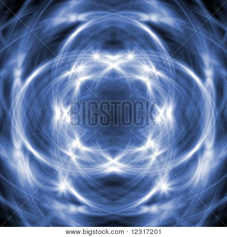 The blue abstract background