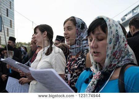 Outdoor Festival Of Orthodox Singing