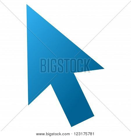 Cursor Arrow vector toolbar icon for software design. Style is gradient icon symbol on a white background.