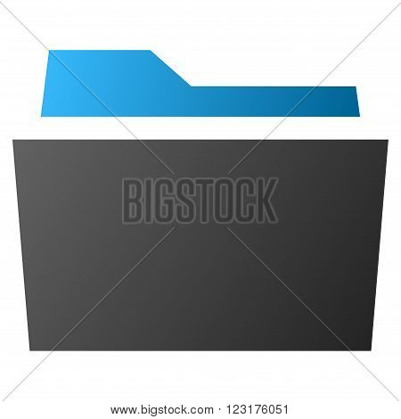 Folder vector toolbar icon for software design. Style is gradient icon symbol on a white background.