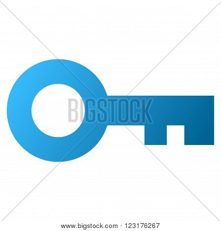 Key vector toolbar icon for software design. Style is gradient icon symbol on a white background.