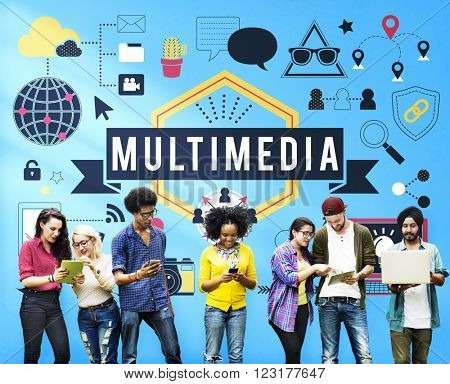 Multimedia Entertainment Channels Audio Content Concept