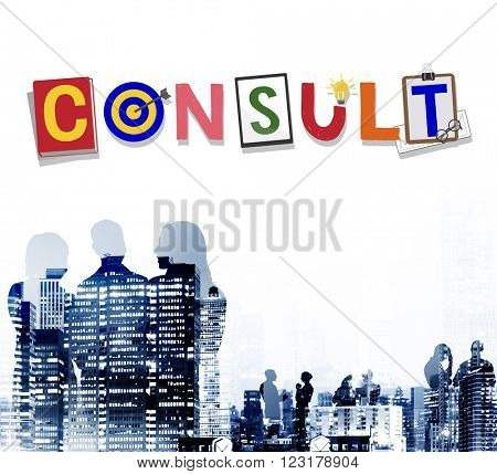 Consult Advise Suggestion Support Consultant Concept