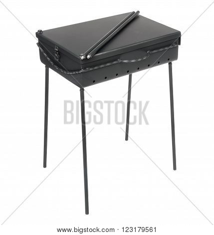 Folding brazier isolated on the white background