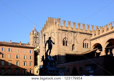 The Fountain of Neptune Bologna Emilia-Romagna Italy