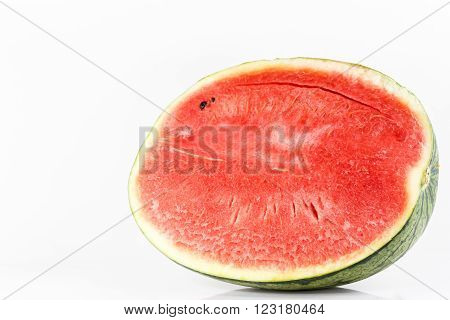 Sweet watermelon isolated on a white background