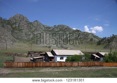 Siberia, Russia - June 10, 2012: Village At The Altai Mountains, Russia