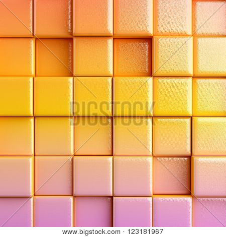 Color Abstract background with cubes. 3d render
