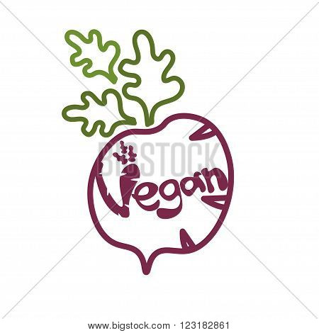 The Radish Illustration With Lettering
