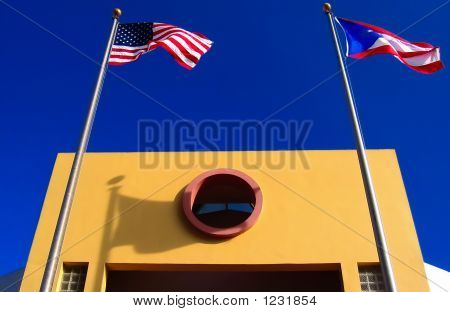 An Architectural Detail Of A Public Building In San Juan, Puerto
