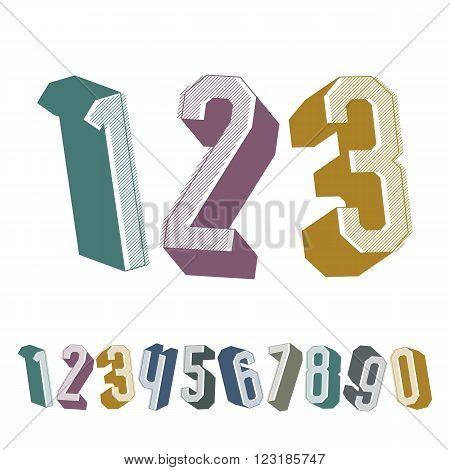 3D Geometric Numbers Set In.