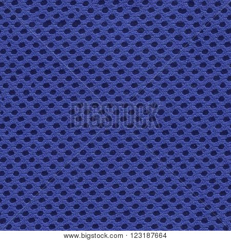 Blue mesh fabric, synthetics, polyester, for shoes seamless texture