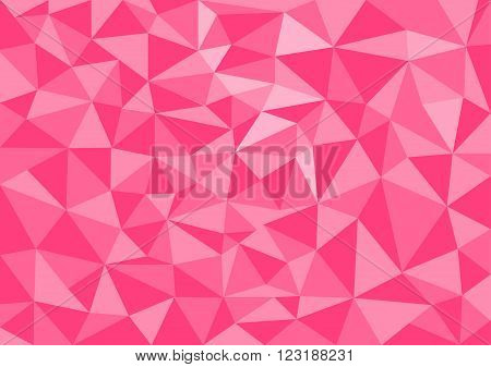 Low poly style vector pink low poly design low poly style illustration Abstract low poly background vector